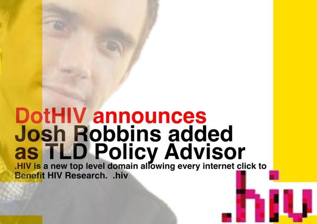 Josh Robbins .hiv TLD advisor