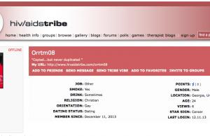 HIV/AIDS Tribe Website Screenshot