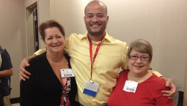 This photo is of Dr. Russell Brewer (center), Director of HIV, STDs, and Reproductive Health, Louisiana Public Health Institute with  Terry Estes, Executive Director, Southwest Louisiana AIDS Council  (SLAC) (on Left) and Carol Giles, Director of Client Services, Southwest Louisiana AIDS Council (On the Right).